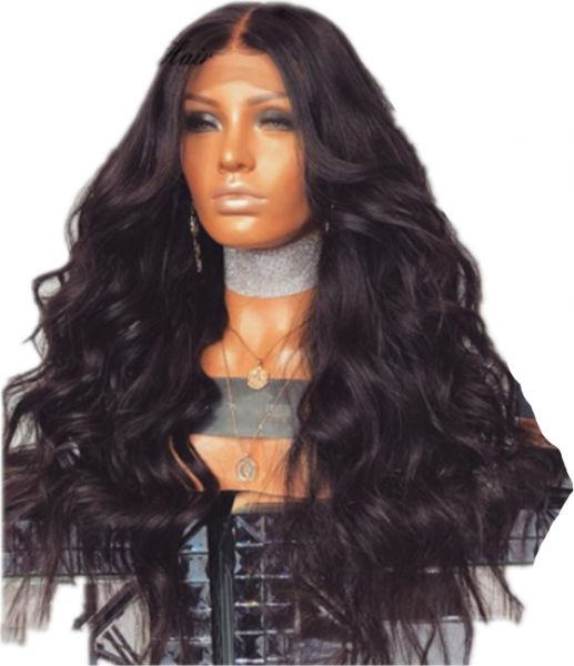 Hair Long Wavy Black Wigs Ombre Wave Synthetic Wig For Women Natural