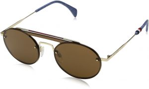 0498234abe34 Tommy Hilfiger Oval Unisex Sunglasses - Brown Lens