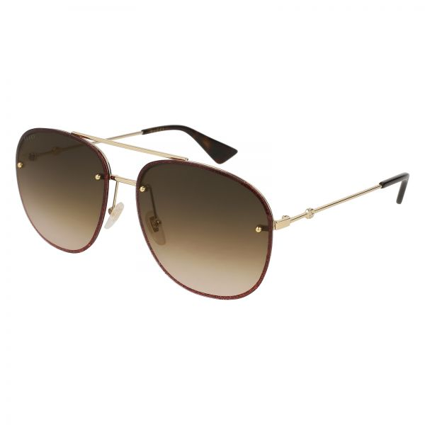 2c84948a04 Gucci Aviator Sunglasses for Women - Brown Lens