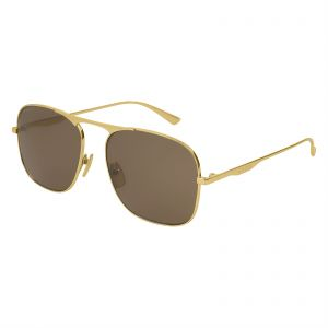 087097a227 Gucci Aviator Sunglasses for Women - Brown Lens