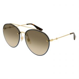 d815f4d1ef7 Gucci Aviator Sunglasses for Women - Brown Lens