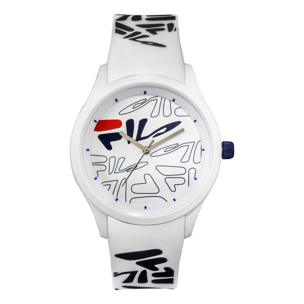 95a85f4ae84c Fila Style Mindblower Men s White Dial Silicone Band Watch - 38-129 ...