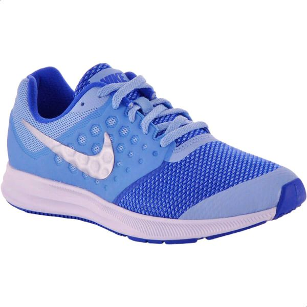 2d01d138b8d0 Nike Downshifter 7 Gg Sports Sneakers For Boys - Blue   White