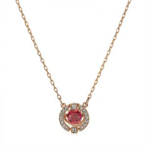 0c55cfcab Swarovski Rose Gold Plated Sparkling Dance Round Necklace - 5279421