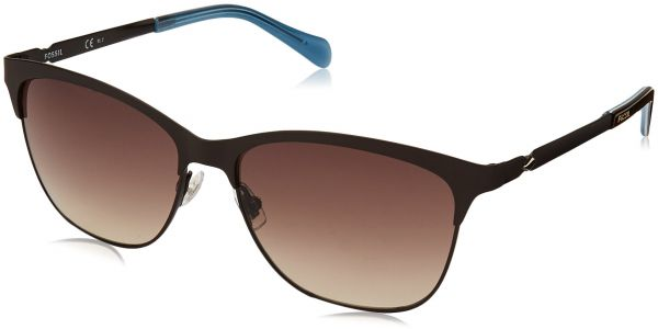 dd58c5ebead0 Fossil Clubmaster Sunglasses for Women - Brown Lens