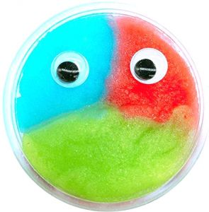 Fluffy Eye Mixing Cloud Slime Clay Toy Mud Putty Toys Stress Relief Toys Plasticine Rubber Mud Diy Toys For Kids Adult Blue Red