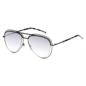 8002693206 Marc Jacobs Oval Sunglasses for Unisex - Silver   Gray Lens