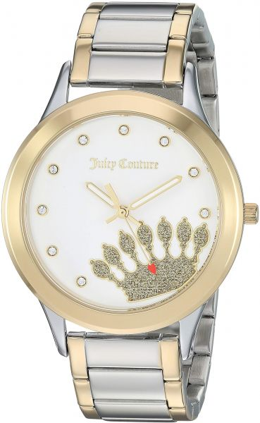 5a3d951e685 Juicy Couture Black Label Women s JC 1053WTTT Swarovski Crystal Accented  Two-Tone Bracelet Watch