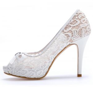 3db259fea Hinyyrin Platforms Shoes White Wedding Women High Heels Flower Sandals