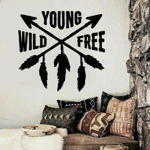 Young Wild Free Wall Sticker