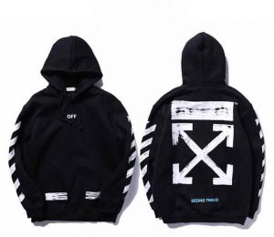 f36f331cf389 Off-white Classic Arrow White Hoodie Unisex Hooded Sweatshirt For Men And  Women