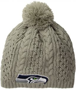 9e510aaabef NFL Seattle Seahawks Women s Valerie OTS Beanie Knit Cap with Pom
