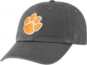 the best attitude 2196a 270cf ... australia top of the world ncaa clemson tigers mens adjustable relaxed  fit charcoal icon hat charcoal