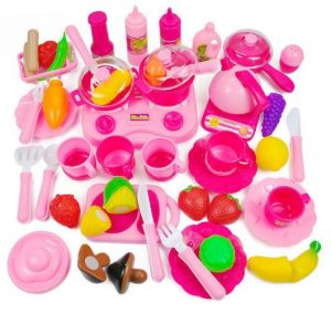 3b5615be449eb Multi Color Simulation Foods 46pcs Set Fruit Vegetable Kids Kitchen Pretend  Play Toys For Children Cutting Cooking Food Game Girls Boys Gift Plastic ...