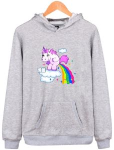 7d8d0fe50f8 Fashion Unicorn Personality Trend Plus Velvet Hooded Sweater Men and Women  Long-sleeved Shirt Hoodie Pullover Casual Jersey Shirt