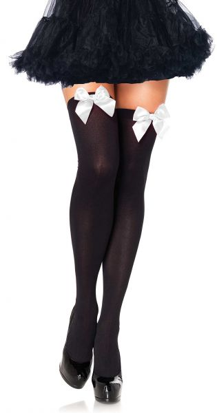 480cb3359 Leg Avenue Women s Opaque Thigh High Stockings with Satin Bow