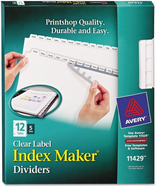 Avery Index Maker Clear Label 8-12 x 11 Inches Dividers with