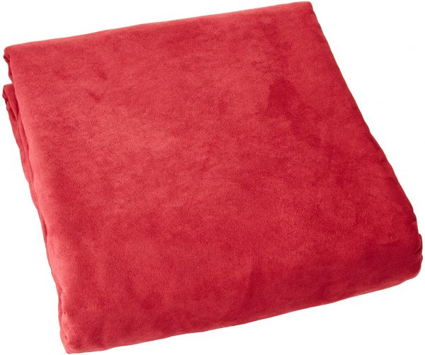 Green Living Group Chezmoi Collection Soft Micro Suede Solid Red Couch/Sofa Cover Slipcover with Elastic Band Under Seat Cushion, Burgundy | Souq - UAE