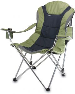 Amazing Oniva A Picnic Time Brand Portable Reclining Camp Chair Sage Gray Creativecarmelina Interior Chair Design Creativecarmelinacom