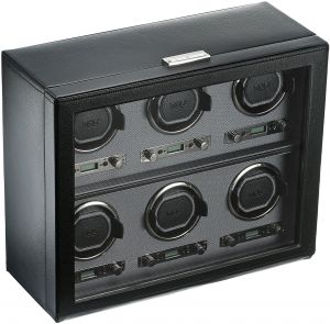 Wolf Designs 456802 Viceroy Collection Module 2.7 Six Watch Winder with Cover