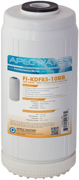 APEC Water Systems FI-KDF85-10BB 10 US Made Whole House Replacement Water Filter Iron and Hydrogen Sulfide Removal
