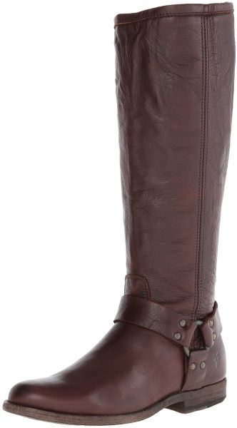 b7730bcb31d FRYE Women s Phillip Harness Tall Boot  Wide Calf