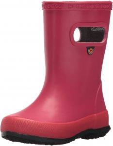 02e71e57c987 Bogs Skipper Kids Waterproof Rubber Rain Boot for Boys and Girls