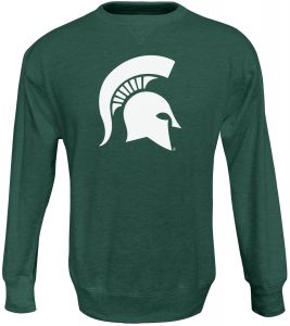 536b5929f Alta Gracia NCAA Michigan State Spartans Men's Crew 50/50 Fleece Top,  Green, X-Large
