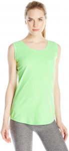 48af34a0a5d5c Hanes Women s X-Temp Pocket Tank Top - Small - Neon Lime Heather