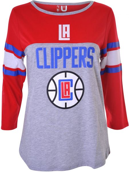 0dbb8b3f878 NBA Los Angeles Clippers Women s T-Shirt Raglan Baseball 3 4 Long Sleeve Tee  Shirt
