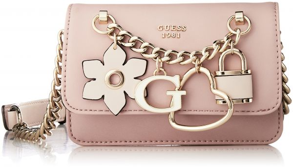GUESS Hadley Mini Crossbody Flap Rsm, Rose Multi