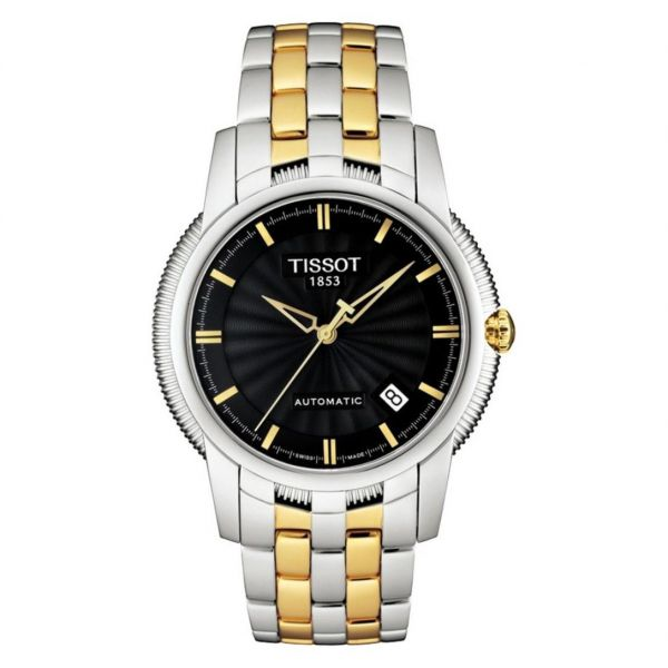 9c1dbfda156 tissot Men s Black Dial Stainless Steel Band automatic Watch - T97.2.483.51
