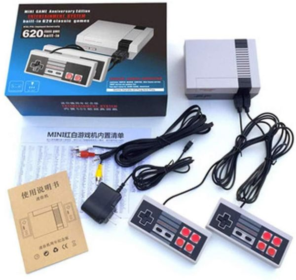 CHOCHO Mini Video Game Consoles Classic Game System Family with Double Controller With Built in 620 Games