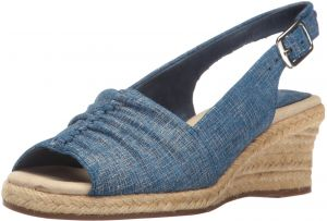 7a5990a87 Easy Street Women s Kindly Espadrille Wedge Sandal