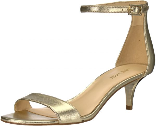 5c7c30ada8d Nine West Women s Leisa Metallic Heeled Sandal