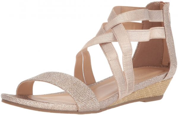 98b3415504df Kenneth Cole REACTION Women s Great Stretch Low Wedge Sandal