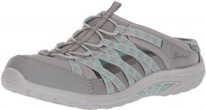 huge discount a99db a6cc6 Skechers Women s Reggae Fest-Marlin-Fisherman Open Back Mule Relaxed Fit  and a C Memory Foam Water Shoe, Gray, 5.5 M US