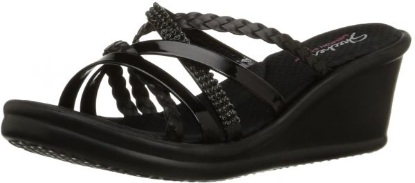 d11beaa2be8a Skechers Cali Women s Rumblers Wild Child-Social Butterfly Wedge Sandal