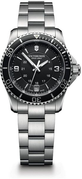 a926b9d7cde7 Victorinox Swiss Army Women s 241701 Maverick Watch with Black Dial and Stainless  Steel Bracelet