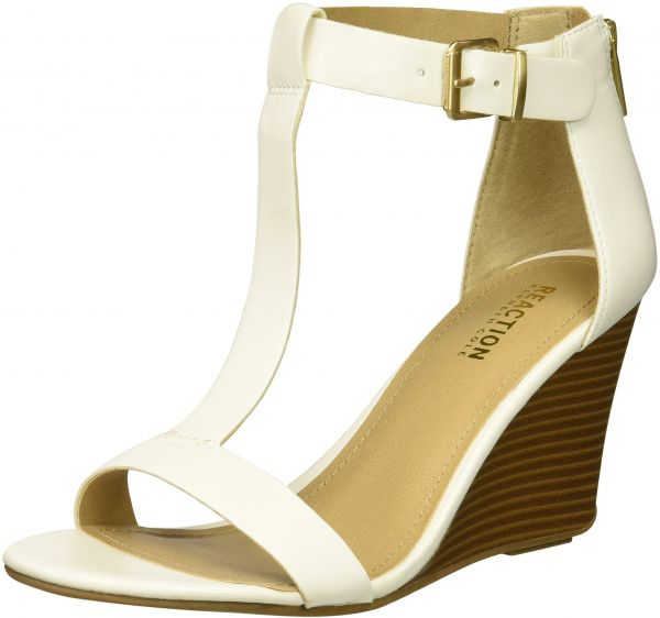 007b89b714e Kenneth Cole REACTION Women s 7 Ava Crave T-Strap Wedge Sandal