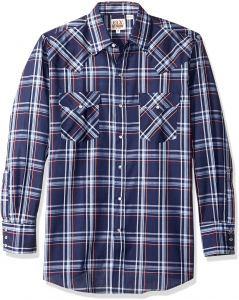 b85b53e6517 Ely   Walker Men s Long Sleeve Plaid Western Shirt