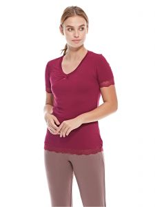 La Vie en Rose Pajama Tops for Women - Red 10c389787