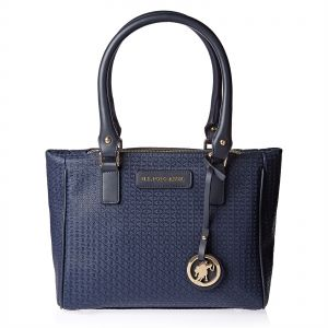 5b0ff823345c U.S. Polo Assn. Leather Tote Bag for Women - Navy