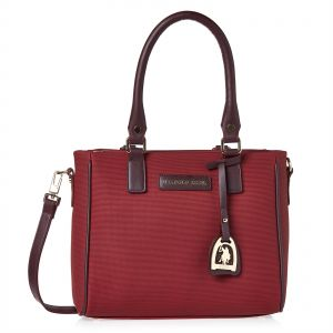 907d9dd47afd U.S. Polo Assn. Leather Tote Bag for Women - Burgundy