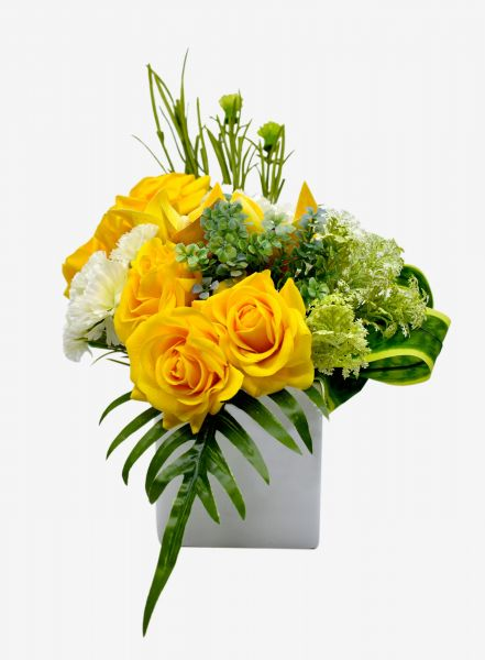 Artificial Flower Yellow Rose Flower Wedding Flower Party Flower