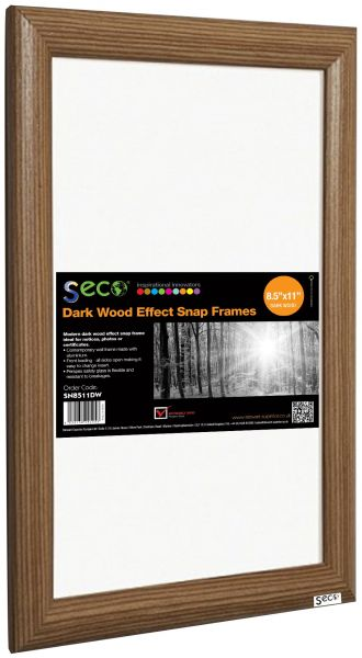 Seco Front Load Easy Open Snap Frame Posterpicture Frame 85 X 11