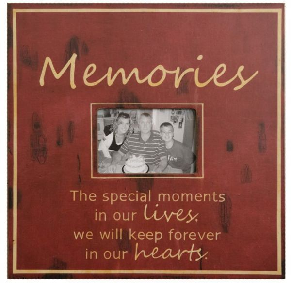 Your Hearts Delight Square Memories 16 Inch Frame For 4 By 6 Inch