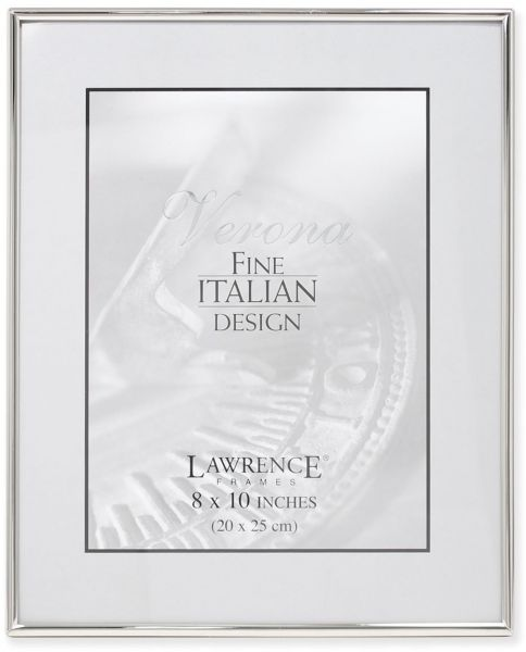 Lawrence Frames Simply Metal Picture Frame 8 By 10 Inch Silver