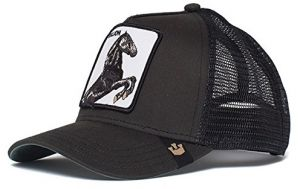 e086da92 Goorin Bros. Men's Animal Farm Snap Back Trucker Hat, Black Horse, One Size