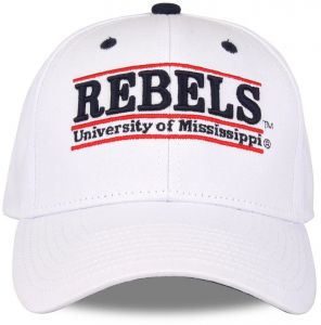 official photos e086c 0ce0d The Game NCAA Mississippi Old Miss Rebels Unisex NCAA bar Design Hat, White,  Adjustable
